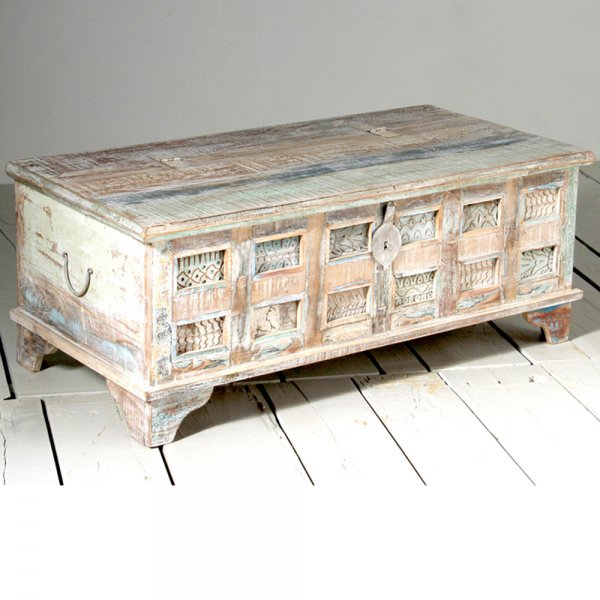 Whiteleaf Trunk Reclaimed Wood Coffee Chest Curiosity Interiors
