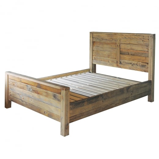 Woodland King Size Bed with Plank Headboard