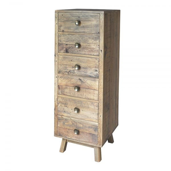 Woodland Rustic Plank Tall Chest Of Drawers From Curiosity